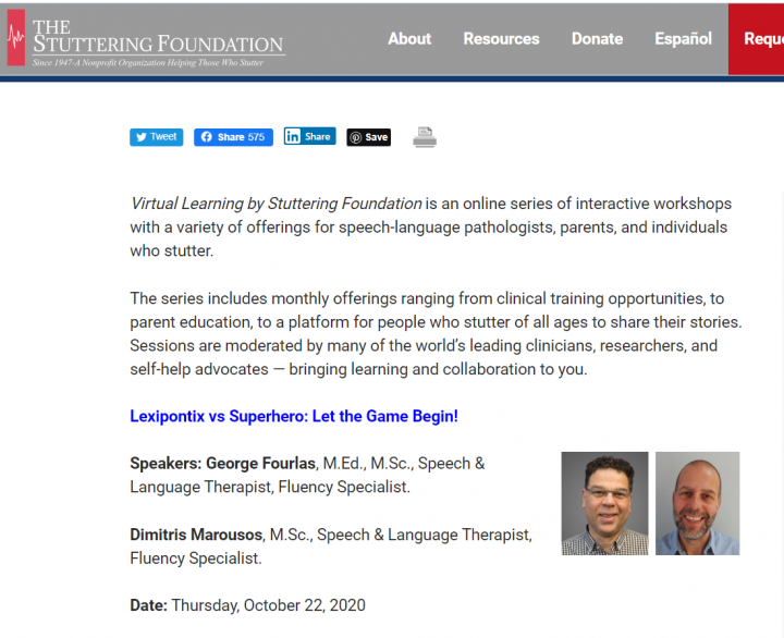 Lexipontix in the Stuttering Foundation
